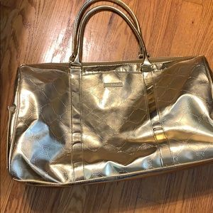 Bcbgmaxazria gold weekend bag